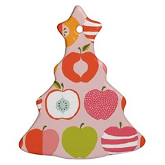 Pink Delicious Organic Canvas Christmas Tree Ornament (2 Sides)