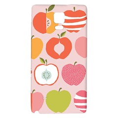 Pink Delicious Organic Canvas Galaxy Note 4 Back Case by AnjaniArt