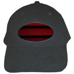Line Red Black Black Cap