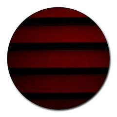 Line Red Black Round Mousepads by AnjaniArt