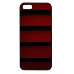 Line Red Black Apple Iphone 5 Seamless Case (black)