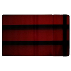 Line Red Black Apple Ipad 2 Flip Case by AnjaniArt