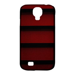 Line Red Black Samsung Galaxy S4 Classic Hardshell Case (pc+silicone)