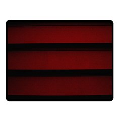 Line Red Black Double Sided Fleece Blanket (small)  by AnjaniArt