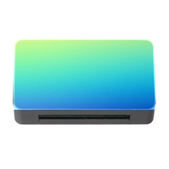 Purple Blue Green Memory Card Reader With Cf