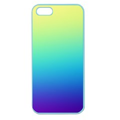 Purple Blue Green Apple Seamless Iphone 5 Case (color) by AnjaniArt