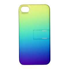 Purple Blue Green Apple Iphone 4/4s Hardshell Case With Stand by AnjaniArt