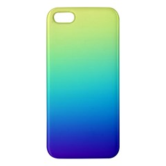 Purple Blue Green Apple Iphone 5 Premium Hardshell Case