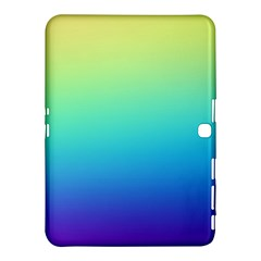 Purple Blue Green Samsung Galaxy Tab 4 (10 1 ) Hardshell Case  by AnjaniArt
