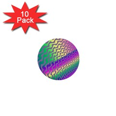 Line Colour Wiggles 1  Mini Buttons (10 Pack)