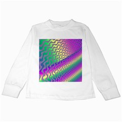 Line Colour Wiggles Kids Long Sleeve T Shirts