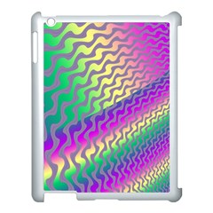 Line Colour Wiggles Apple Ipad 3/4 Case (white) by AnjaniArt