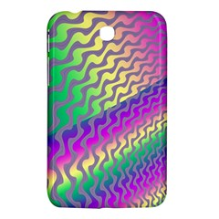 Line Colour Wiggles Samsung Galaxy Tab 3 (7 ) P3200 Hardshell Case  by AnjaniArt