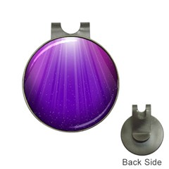 Purple Colors Fullcolor Hat Clips With Golf Markers