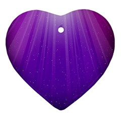 Purple Colors Fullcolor Heart Ornament (2 Sides) by AnjaniArt