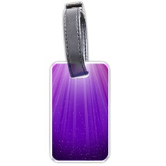Purple Colors Fullcolor Luggage Tags (one Side)  by AnjaniArt