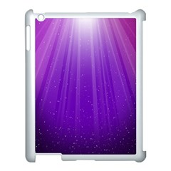 Purple Colors Fullcolor Apple Ipad 3/4 Case (white) by AnjaniArt