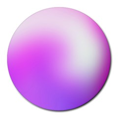 Purple White Background Bright Spots Round Mousepads