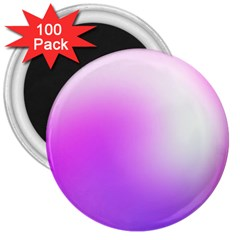 Purple White Background Bright Spots 3  Magnets (100 Pack)