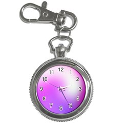 Purple White Background Bright Spots Key Chain Watches