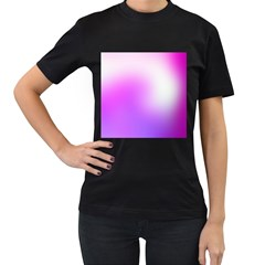 Purple White Background Bright Spots Women s T Shirt (black) by AnjaniArt