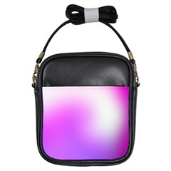 Purple White Background Bright Spots Girls Sling Bags