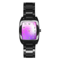 Purple White Background Bright Spots Stainless Steel Barrel Watch by AnjaniArt