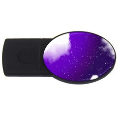 Purple Cloud Usb Flash Drive Oval (2 Gb)