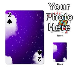 Purple Cloud Playing Cards 54 Designs  by AnjaniArt
