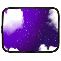 Purple Cloud Netbook Case (large) by AnjaniArt