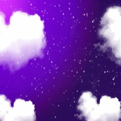 Purple Cloud Magic Photo Cubes by AnjaniArt