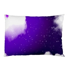 Purple Cloud Pillow Case (two Sides) by AnjaniArt