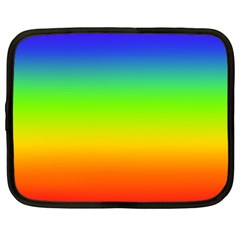 Rainbow Blue Green Pink Orange Netbook Case (large)