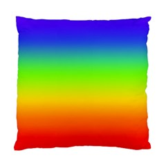 Rainbow Blue Green Pink Orange Standard Cushion Case (one Side)