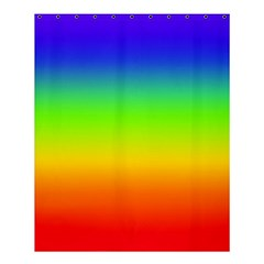 Rainbow Blue Green Pink Orange Shower Curtain 60  X 72  (medium)  by AnjaniArt