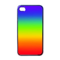 Rainbow Blue Green Pink Orange Apple Iphone 4 Case (black) by AnjaniArt