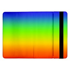 Rainbow Blue Green Pink Orange Samsung Galaxy Tab Pro 12 2  Flip Case by AnjaniArt
