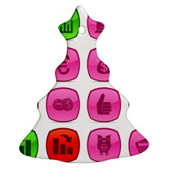 Sign Picture Christmas Tree Ornament (2 Sides)