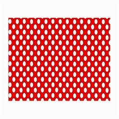 Red Circular Pattern Small Glasses Cloth (2 Side) by AnjaniArt