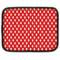 Red Circular Pattern Netbook Case (large) by AnjaniArt