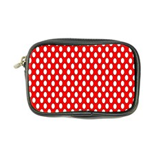 Red Circular Pattern Coin Purse by AnjaniArt
