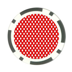 Red Circular Pattern Poker Chip Card Guards (10 Pack)  by AnjaniArt