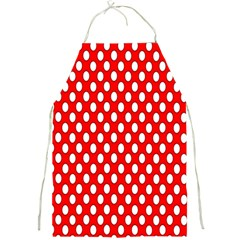 Red Circular Pattern Full Print Aprons by AnjaniArt
