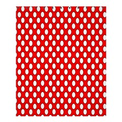 Red Circular Pattern Shower Curtain 60  X 72  (medium)  by AnjaniArt