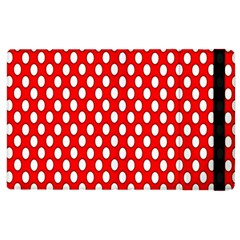 Red Circular Pattern Apple Ipad 2 Flip Case by AnjaniArt
