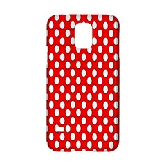 Red Circular Pattern Samsung Galaxy S5 Hardshell Case