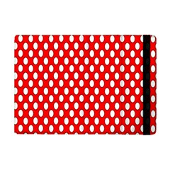 Red Circular Pattern Ipad Mini 2 Flip Cases by AnjaniArt