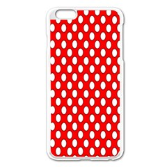 Red Circular Pattern Apple Iphone 6 Plus/6s Plus Enamel White Case by AnjaniArt