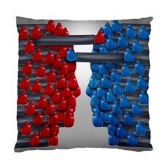 Red Boxing Gloves And A Competing Standard Cushion Case (two Sides) by AnjaniArt