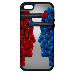 Red Boxing Gloves And A Competing Apple Iphone 5 Hardshell Case (pc+silicone) by AnjaniArt